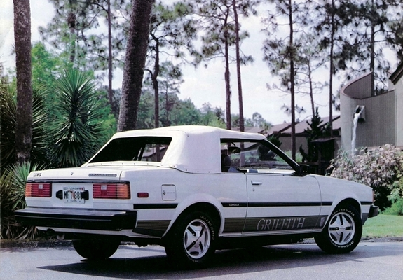 Toyota Corolla Sr5 Convertible Griffith Limited Edition