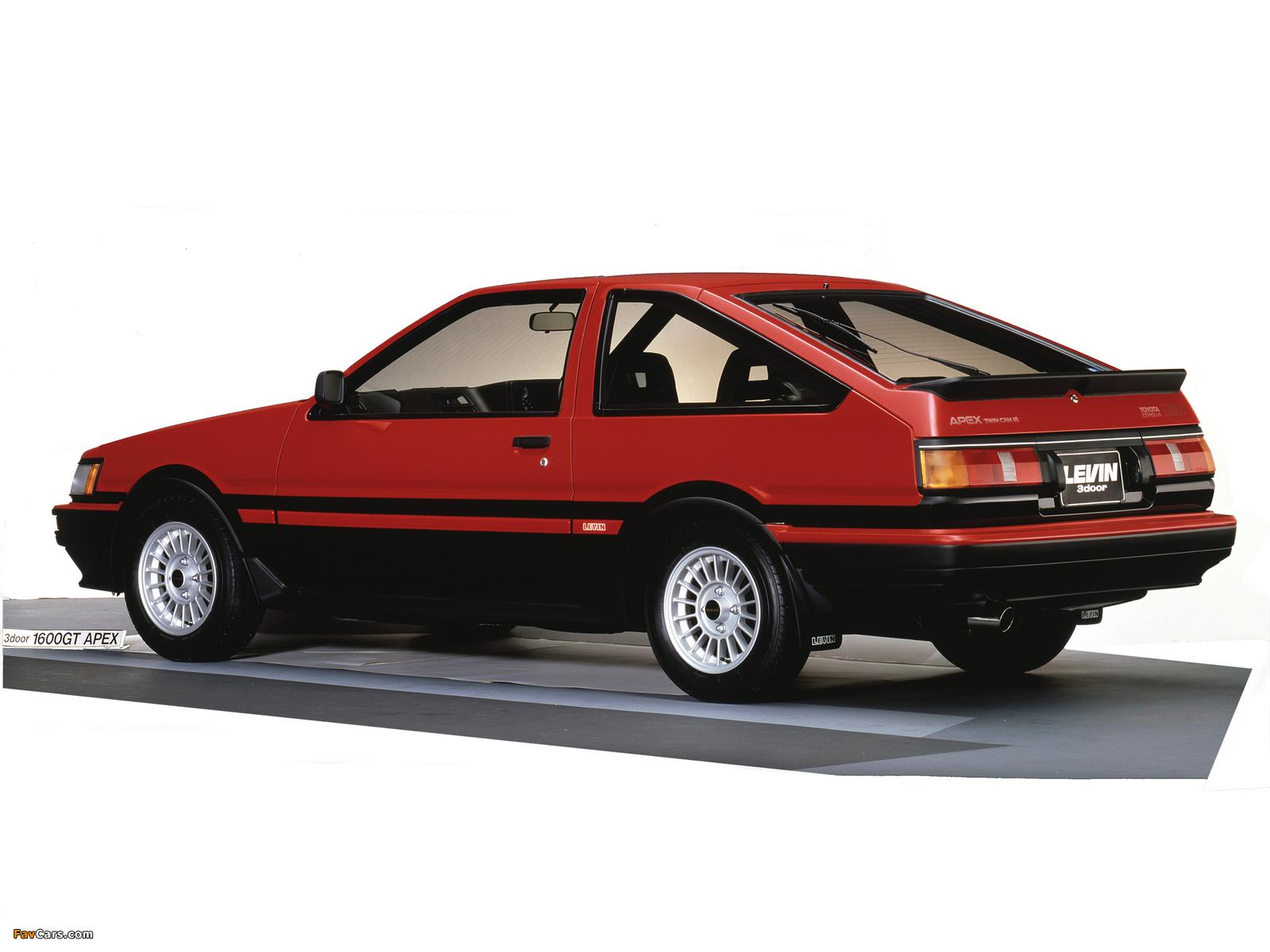 Toyota Corolla 1600 >> Toyota Corolla Levin GT-Apex 3-door (AE86) 1985–87 wallpapers (1600x1200)