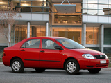Photos of Toyota Corolla Sedan ZA-spec 2001–04