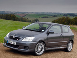 Photos of Toyota Corolla T-Sport 3-door UK-spec 2004–07