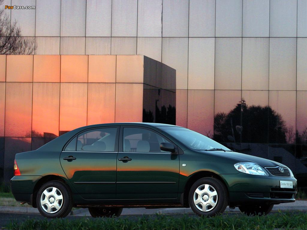 Toyota Corolla Sedan ZA-spec 2001–04 images (1024 x 768)