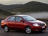 Toyota Corolla Sedan ZA-spec 2001–04 images