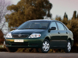 Toyota Corolla Sedan ZA-spec 2001–04 photos
