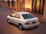 Toyota Corolla Sedan JP-spec 2004–06 photos