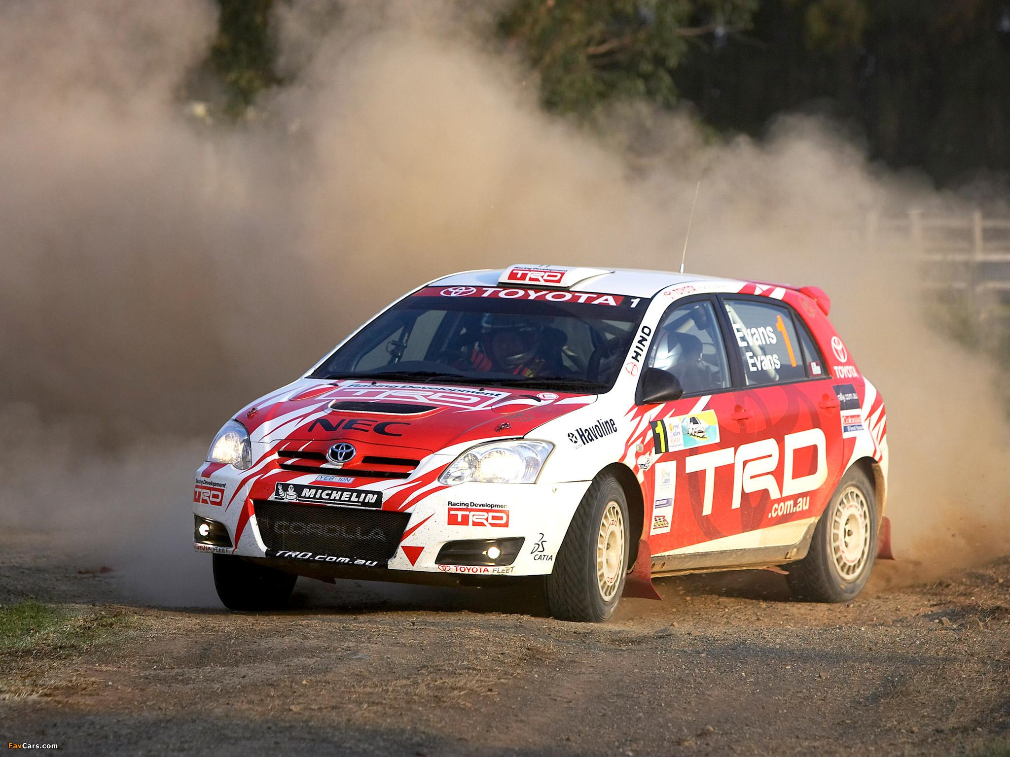 Toyota Corolla Rally Car 2005–07 photos (2048x1536)