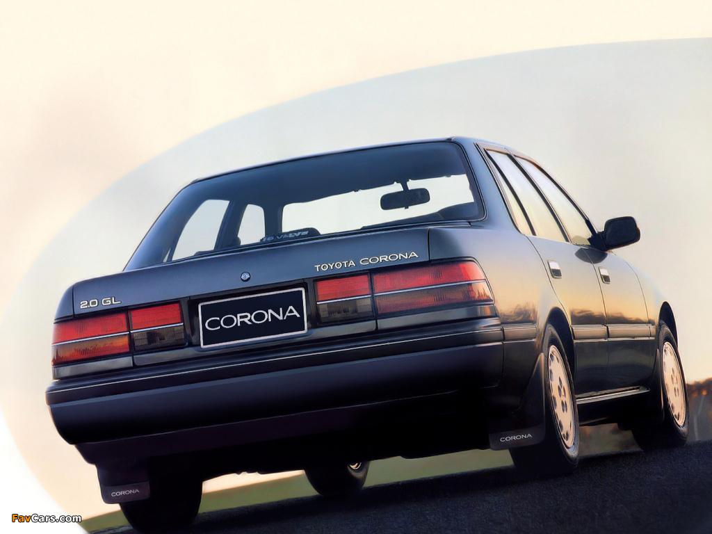 Pictures Of Toyota Corona Sedan T170 1987 92 1024x768