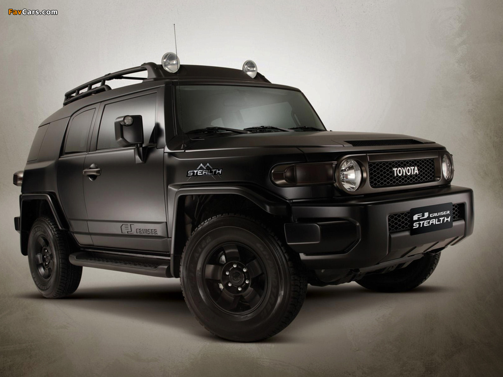 Toyota FJ Cruiser Stealth 2009u201310 Wallpapers (1024 X 768)