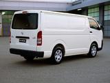 Toyota Hiace LWB Van AU-spec 2004–10 pictures
