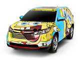 Photos of Toyota Highlander SpongeBob SquarePants Concept 2013