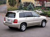 Pictures of Toyota Highlander 2001–03