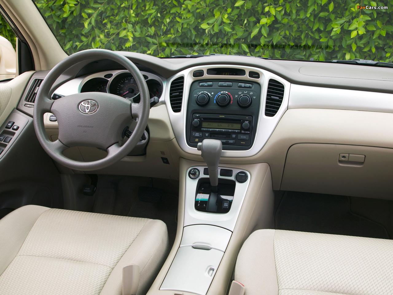 Toyota Highlander 2004 технические характеристики