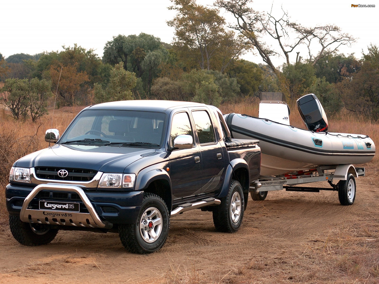 Toyota Off Road >> Toyota Hilux 2700i Legend 35 Double Cab 2004 photos (1600x1200)