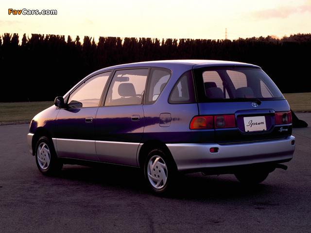 Toyota Ipsum (XM10G) 1996–2001 pictures (640 x 480)