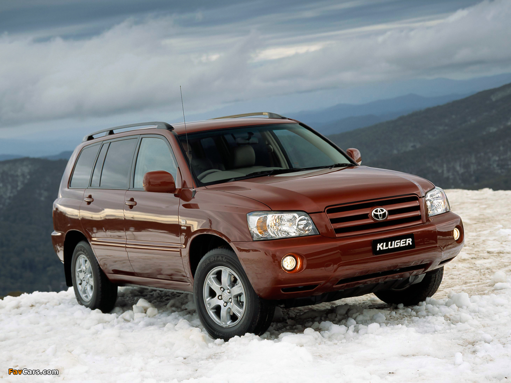 Pictures of Toyota Kluger AU-spec 2003–07 (1024 x 768)