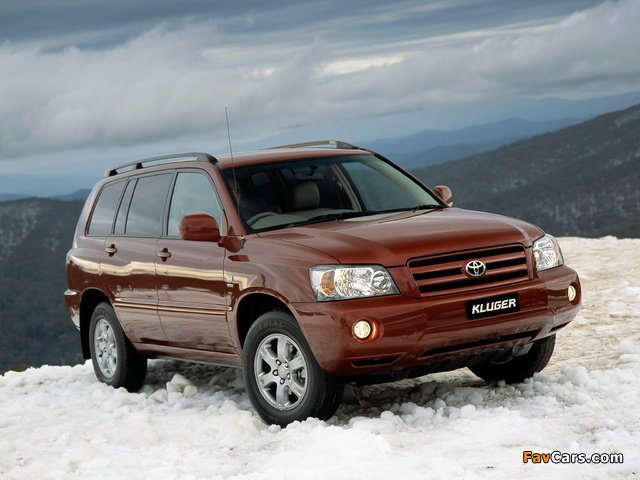Pictures of Toyota Kluger AU-spec 2003–07 (640 x 480)