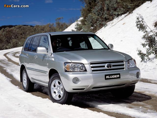 Toyota Kluger AU-spec 2003–07 images (640 x 480)