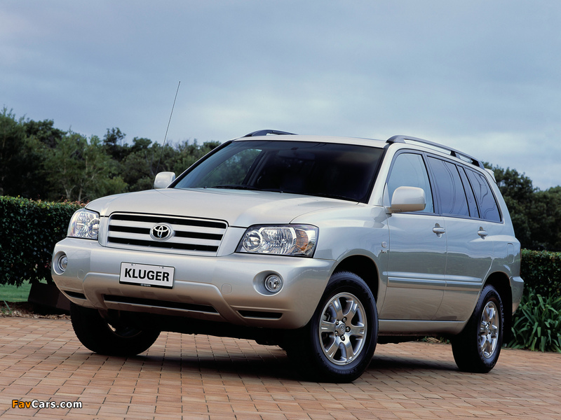 Toyota Kluger AU-spec 2003–07 photos (800 x 600)