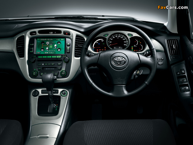 Toyota Kluger Hybrid 2005–07 wallpapers (640 x 480)