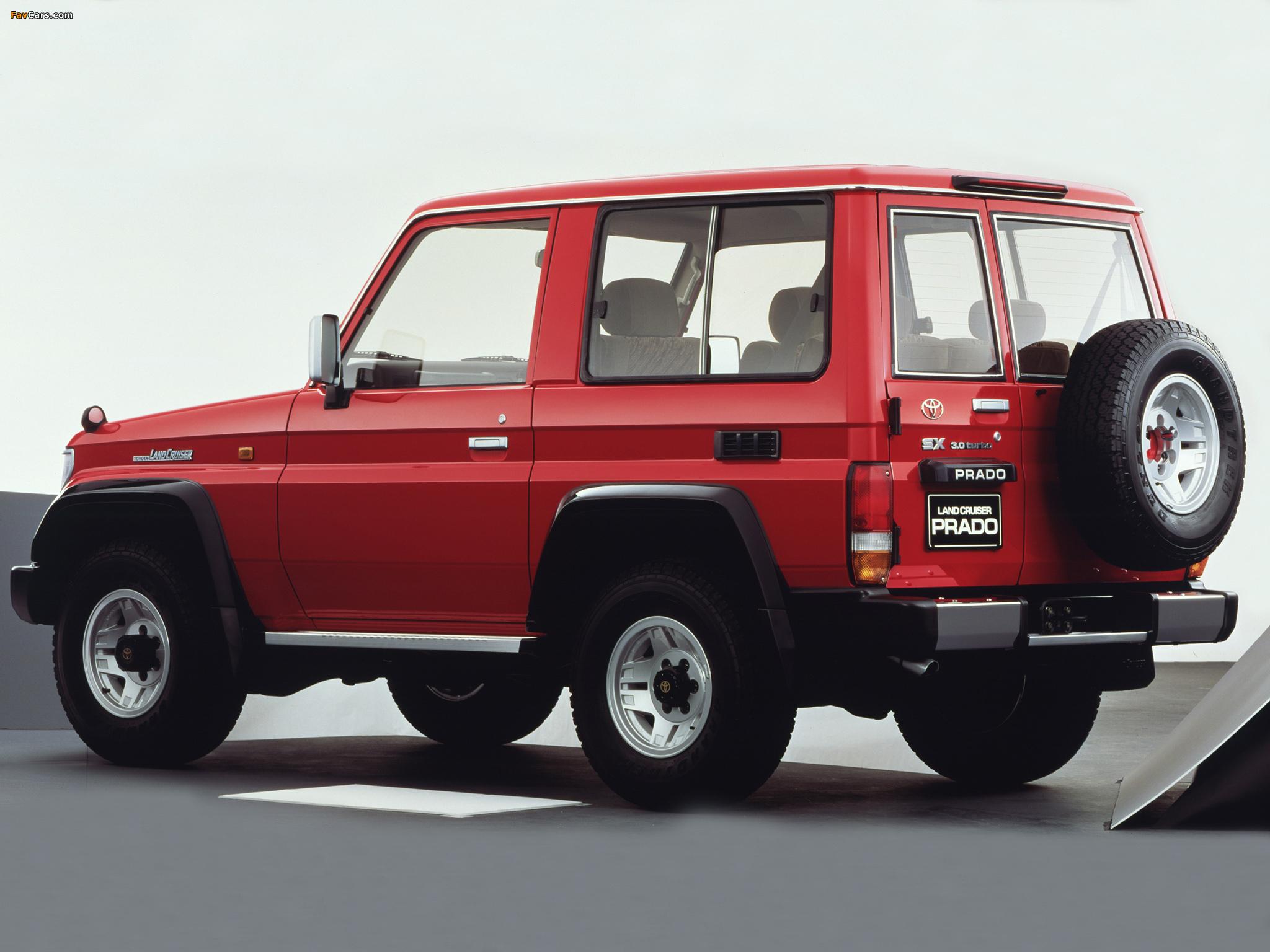 Toyota Land Cruiser Prado >> Images of Toyota Land Cruiser Prado (LJ71G) 1990–96 (2048x1536)