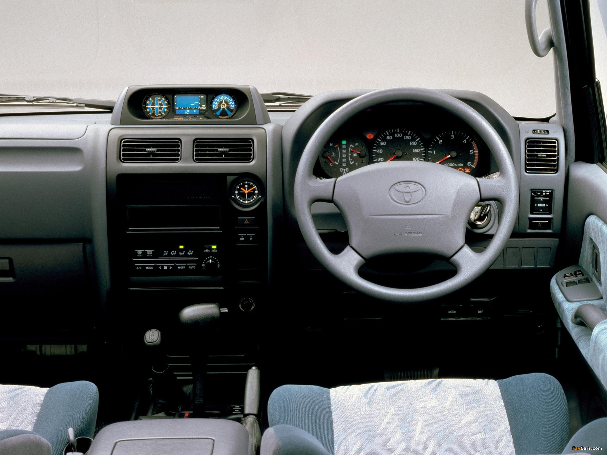 Images of Toyota Land Cruiser Prado 3-door JP-spec (J90W) 1999–2002 (2048x1536)