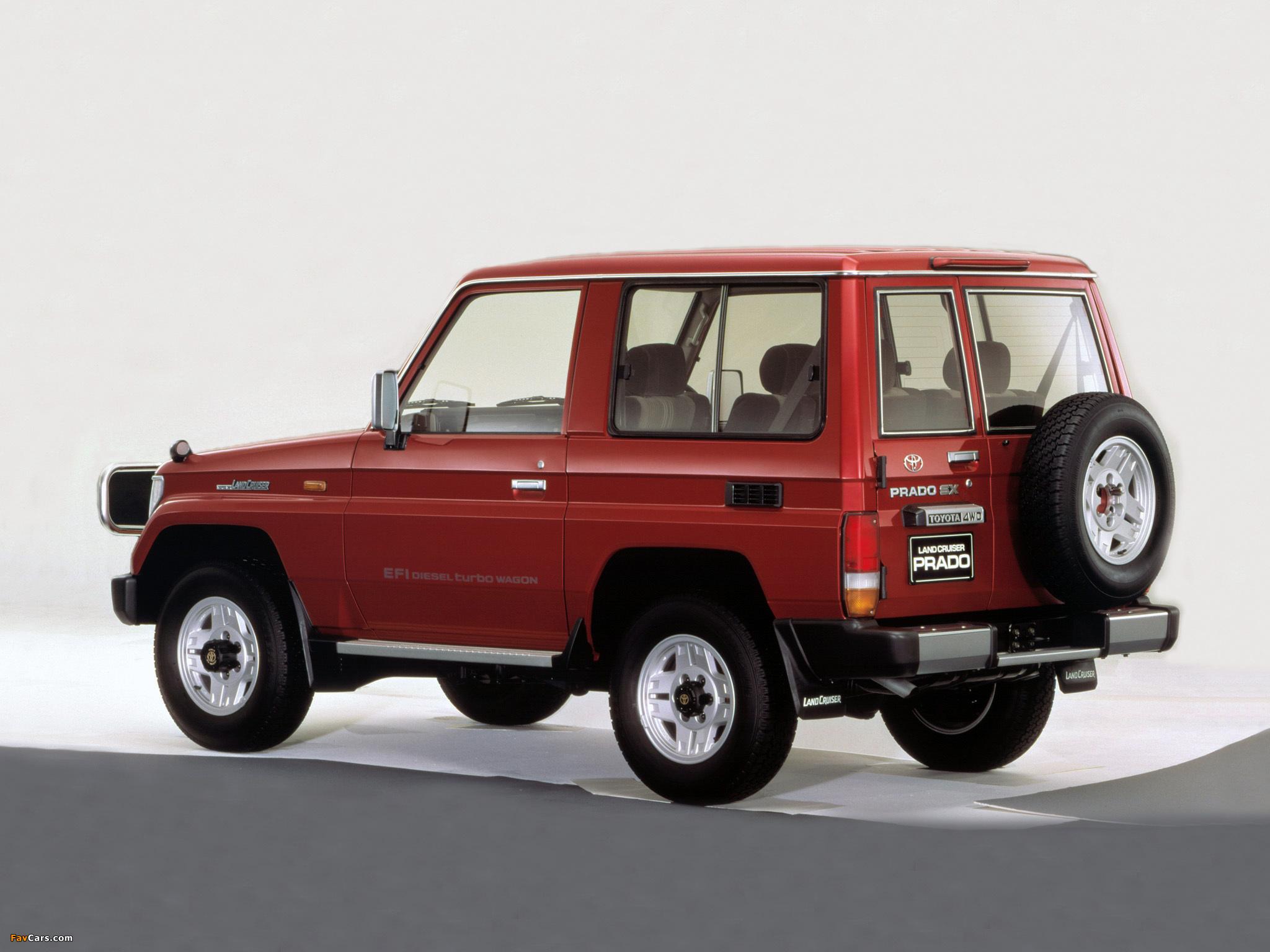 Toyota Land Cruiser Prado (LJ71G) 1990–96 wallpapers ...