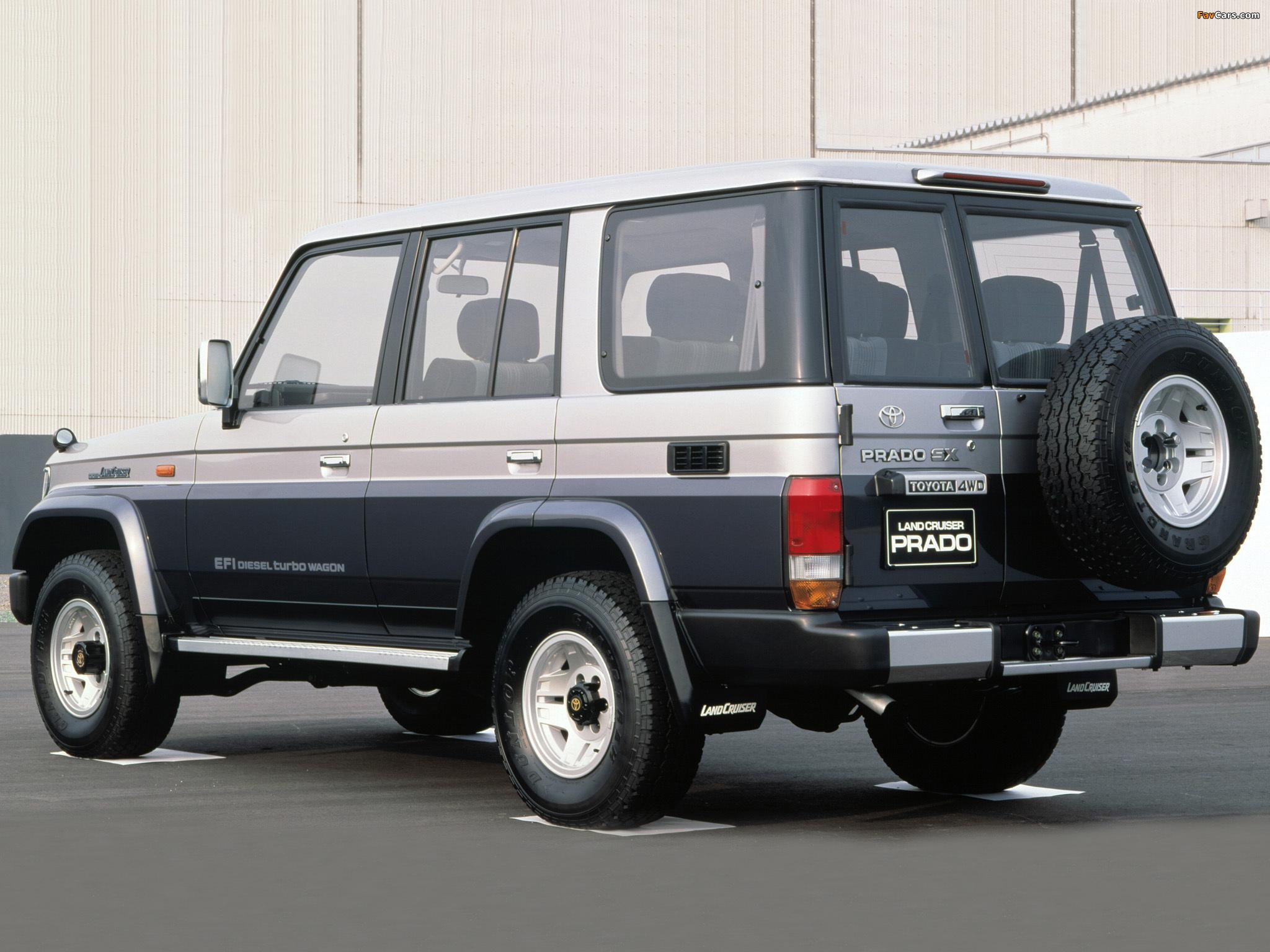 Toyota Land Cruiser Prado >> Toyota Land Cruiser Prado (J78) 1990–96 wallpapers (2048x1536)