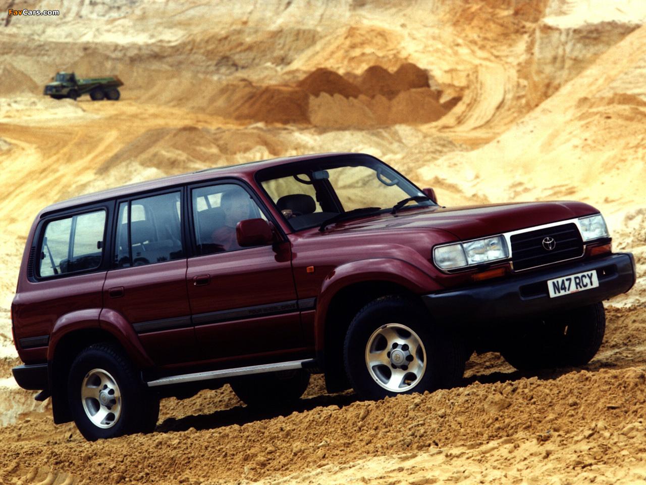 Toyota Land Cruiser 80 VX UK-spec (HZ81V) 1995–97 ...
