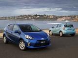 Pictures of Toyota Prius c AU-spec 2012
