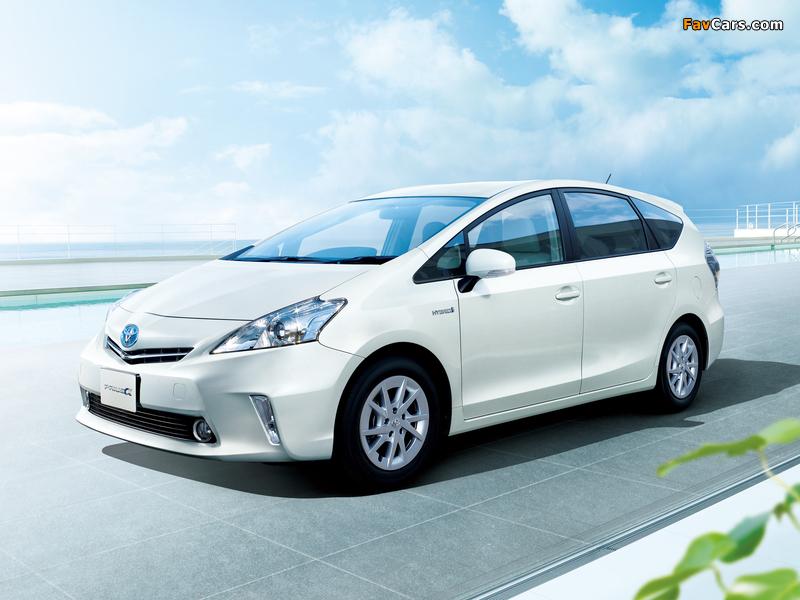 Toyota Prius a 2011, 2012, 2013, 2014, минивэн (3 ряда ...