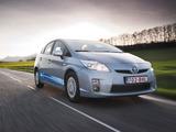 Toyota Prius Plug-In Hybrid Pre-production Test Car EU-spec (ZVW35) 2009–10 images