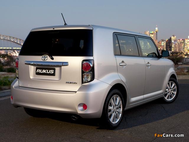 Toyota Rukus 2010 images (640 x 480)