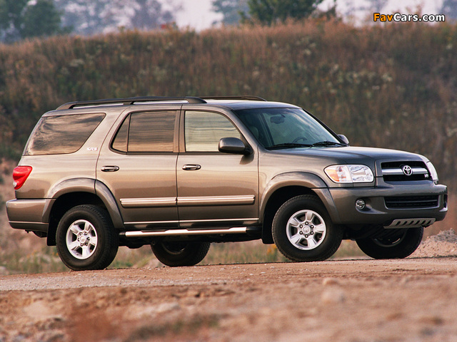 Toyota Sequoia SR5 2005–07 pictures (640 x 480)
