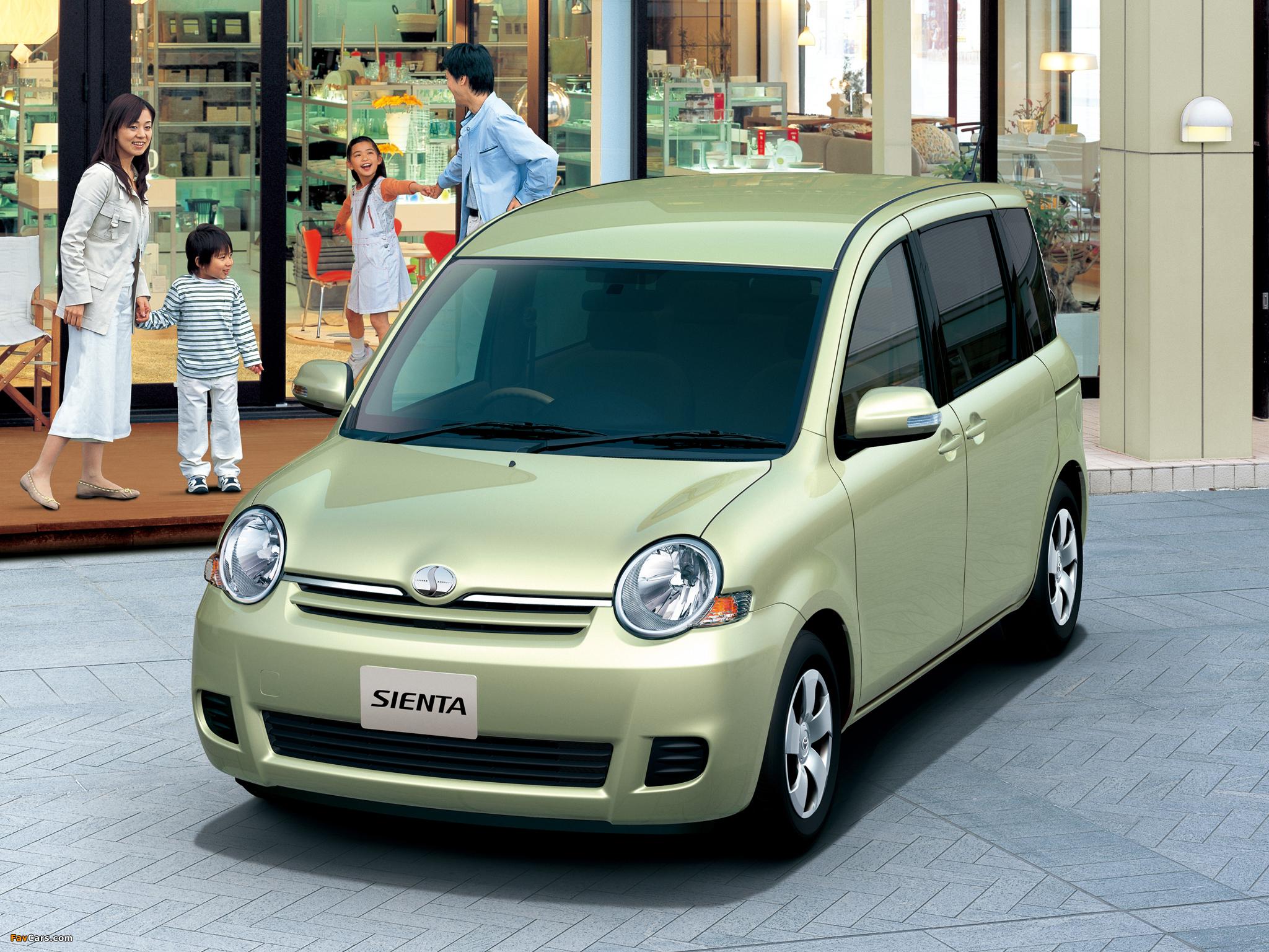 Toyota Sienta (NCP81G) 2006–10 photos (2048 x 1536)