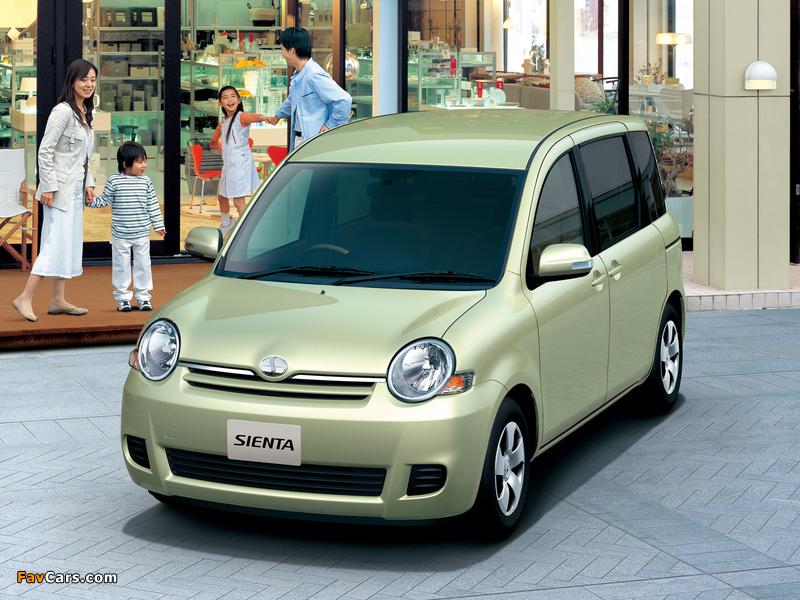 Toyota Sienta (NCP81G) 2006–10 photos (800 x 600)