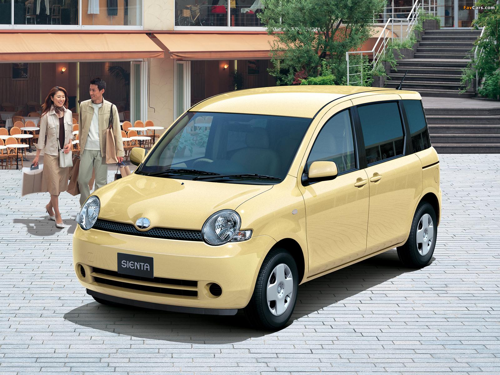 Toyota Sienta (NCP81G) 2003–06 wallpapers (1600 x 1200)