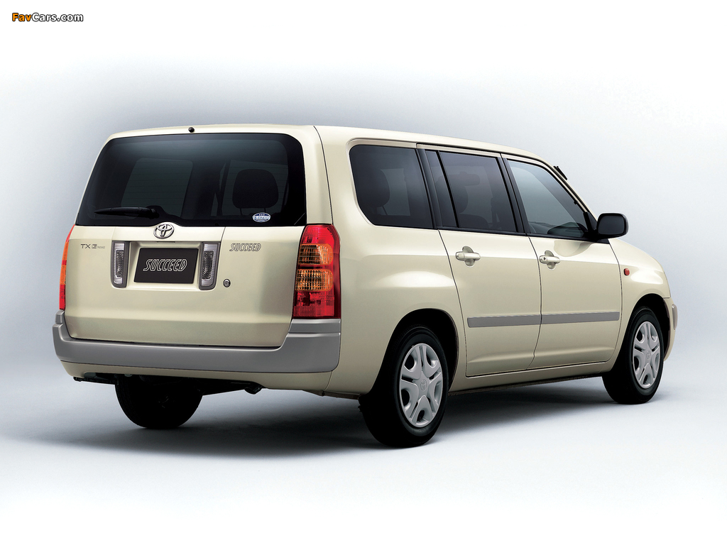 Toyota Succeed Wagon (CP50) 2002 images (1024 x 768)