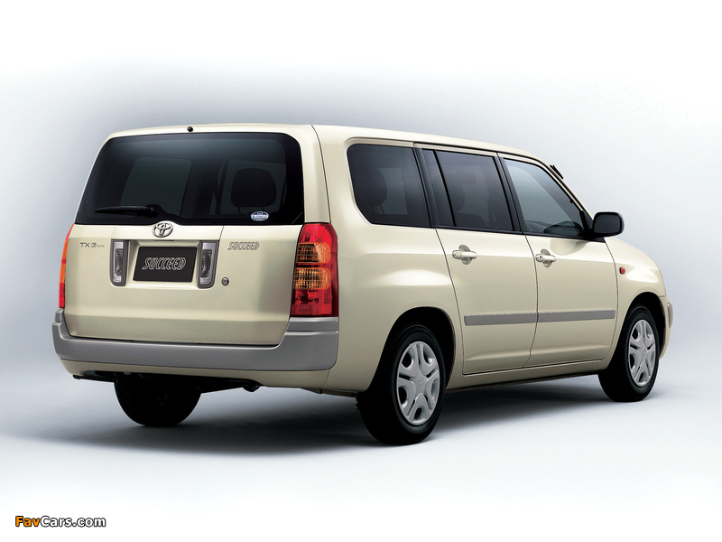 Toyota Succeed Wagon (CP50) 2002 images (800 x 600)
