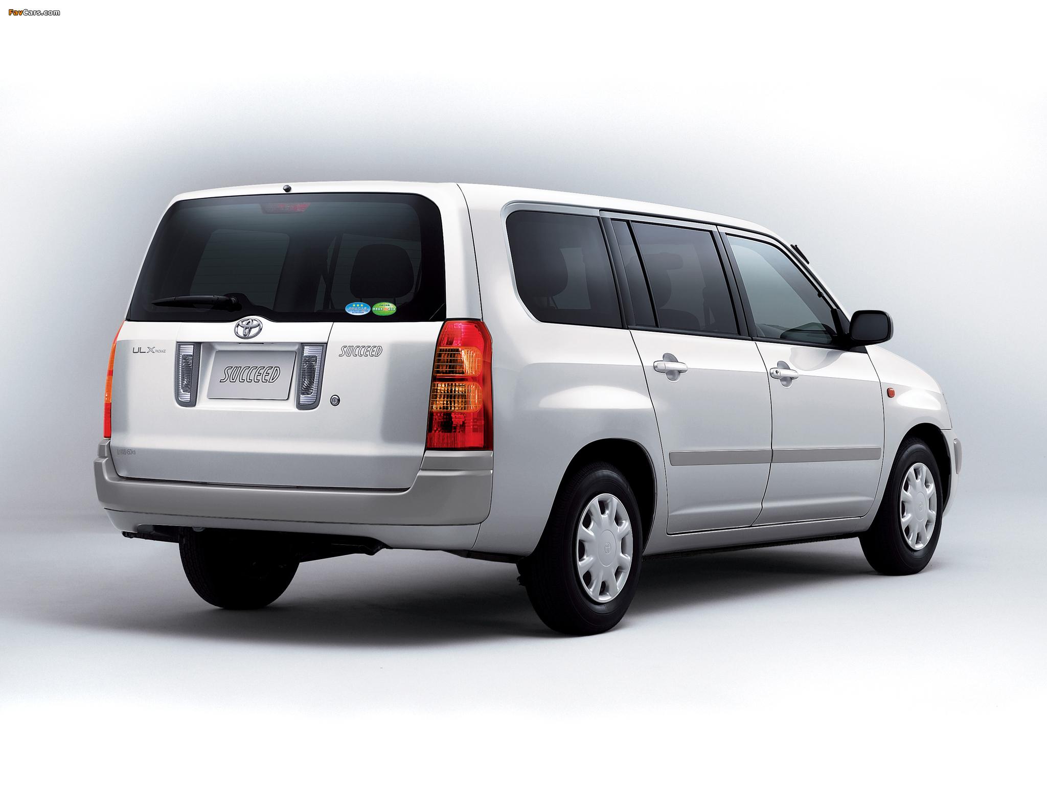 Toyota Succeed Van (CP50) 2002 wallpapers (2048 x 1536)