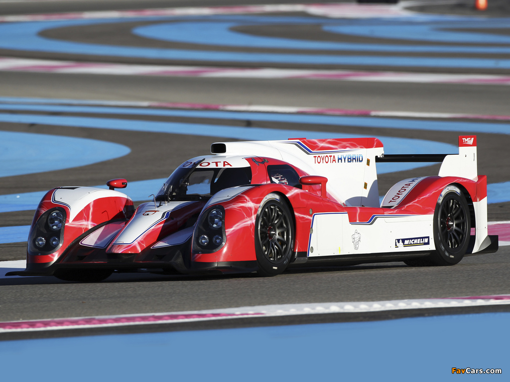 Pictures of Toyota TS030 Hybrid Test Car 2012 (1024 x 768)