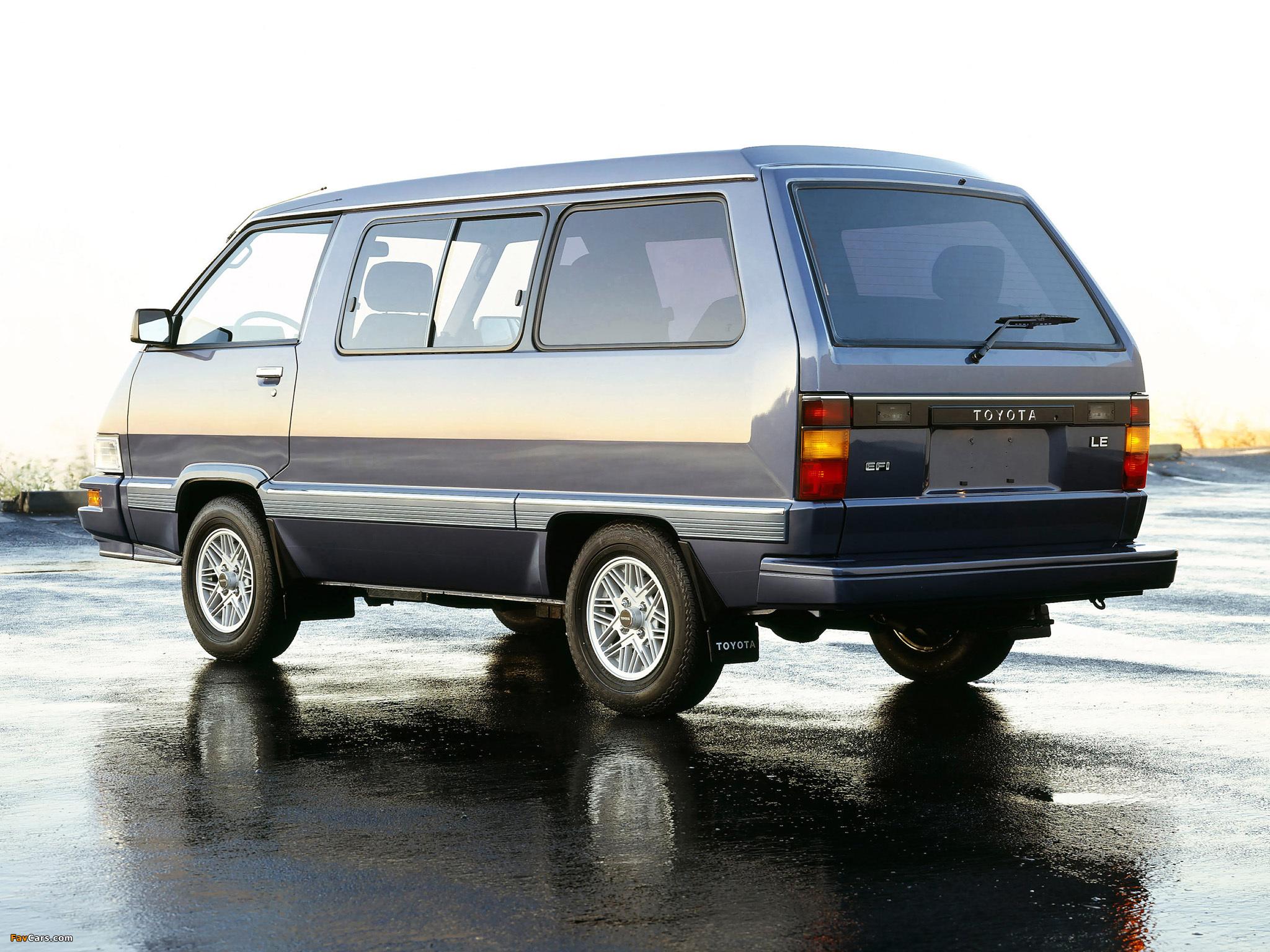 Toyota Van Le 1984 89 Pictures 2048x1536