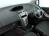 Toyota Yaris T1 3-door ZA-spec 2005–09 images