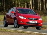 Photos of Vauxhall Astra 2009–12