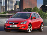 Vauxhall Astra Turbo 2009–12 wallpapers