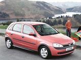 Pictures of Vauxhall Corsa 5-door (C) 2000–03