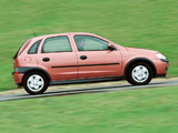 Vauxhall Corsa 5-door (C) 2000–03 wallpapers
