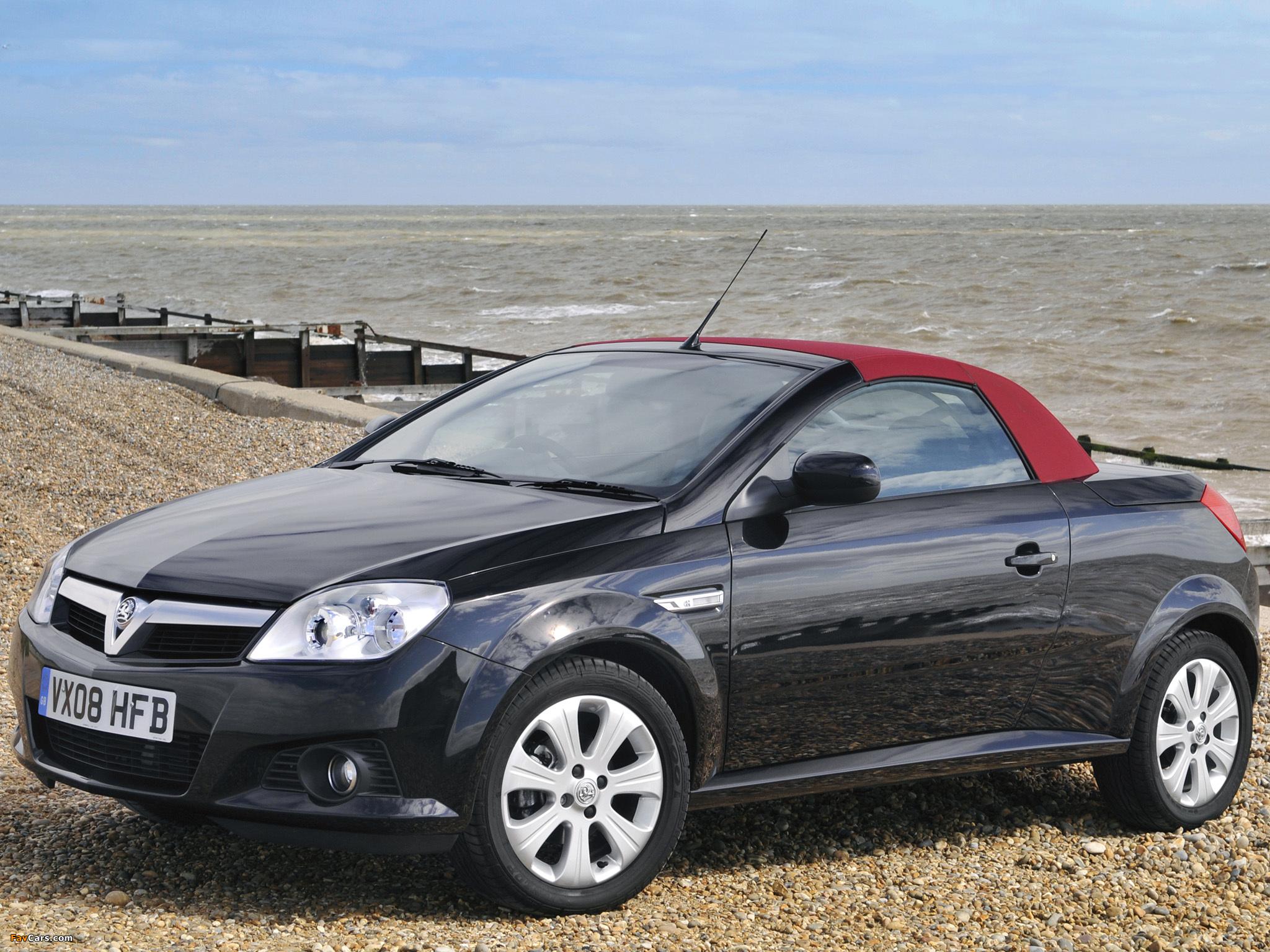 Vauxhall Tigra TwinTop Sport Rouge 2008–09 wallpapers (2048 x 1536)
