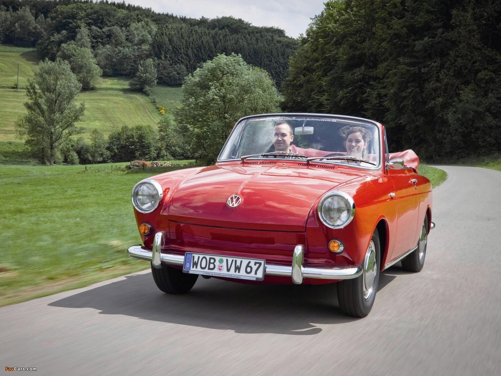 Volkswagen 1500 Notchback Cabriolet (Type3) 1961 wallpapers (1600x1200)