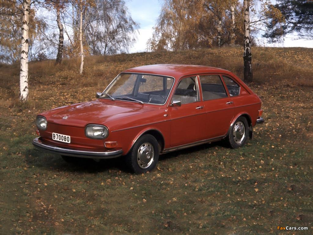4 Door Sedan >> Volkswagen 411 4-door Sedan (Type4) 1968–72 wallpapers (1024x768)