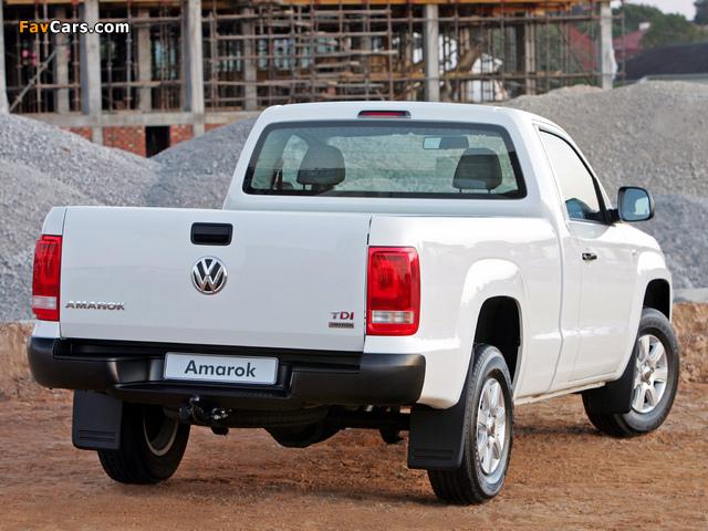 Images of Volkswagen Amarok Single Cab Comfortline ZA-spec 2010 (640 x 480)