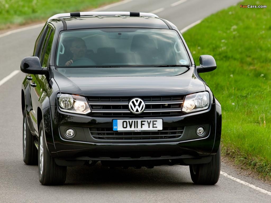 Photos of Volkswagen Amarok Double Cab Trendline UK-spec 2010 (1024 x 768)